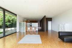 House, wide living room. Interior of a modern house, wide living room Stock Photos
