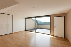 House, wide room with window Royalty Free Stock Photos