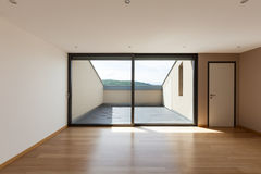 House, wide room with window Stock Images