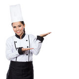 House wife or chef showing and presenting Stock Photo