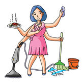 House Wife Multi Job Royalty Free Stock Images