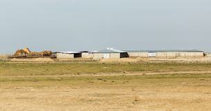 House in the wilderness. Kazakhstan Royalty Free Stock Photo