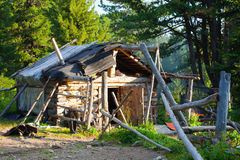 House in wildness area. Wooden house in wildness area Royalty Free Stock Image