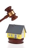 House will be auctioned. Foreclosure sale. Royalty Free Stock Photo