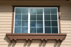 House Window. Close up of a window of a house Royalty Free Stock Photography
