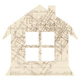 House with window architecture icon Royalty Free Stock Image