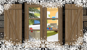 House window in winter Stock Photography