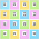 House with windows. Infinite background Royalty Free Stock Photos