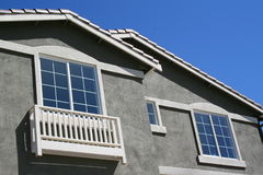 House Windows. Close up of the windows of a house Royalty Free Stock Photo
