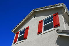 House Windows. Close up of the windows of a house Stock Photography