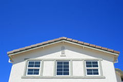 House Windows. Close up of the windows of a house Royalty Free Stock Photography