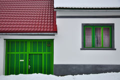 House and windows royalty free stock photography