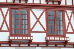 House windows in Saint-Jean-de-Luz Stock Photos