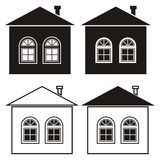 House and windows, set Royalty Free Stock Image