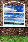 House windows and sky Royalty Free Stock Image