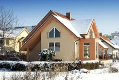 House in the winter stock images