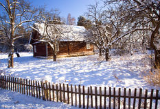 House in the winter Royalty Free Stock Image