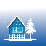 House and winter Stock Images