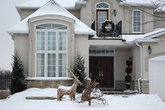 House in Winter - Christmas Stock Images