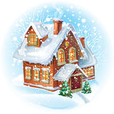 House in winter Stock Photos