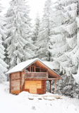 House for winter holidays Royalty Free Stock Photography