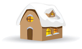 House in winter Stock Photography