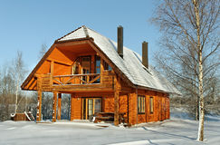 House in winter season. Stock Images