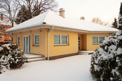 House in winter - snow Stock Photography