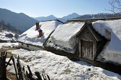 House winter snow Stock Photography