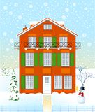 House in the winter time Royalty Free Stock Photography