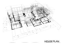 House wire blueprint Stock Photography