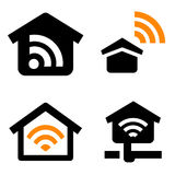 House wireless network Stock Images