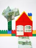 House With Banknotes. Stock Image