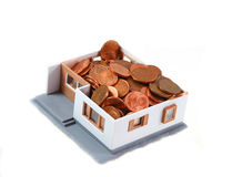House With Cents Stock Images