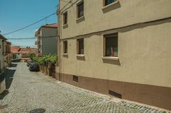 Free House With Colorful Plaster On Deserted Alley Stock Image - 146742721