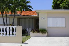 Free House With Hurricane Shutters Stock Photo - 99513450