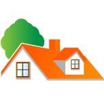 House With Tree Logo Vector Royalty Free Stock Photo