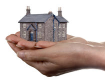 House in womans hands Stock Images