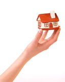 House in the women's  hands Royalty Free Stock Image