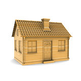 House of Wood. 3d rendering Royalty Free Stock Photo