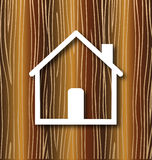 House and wood Royalty Free Stock Images