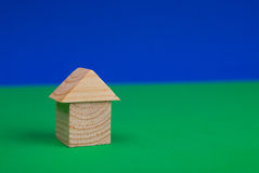 House of wood blocks Royalty Free Stock Image
