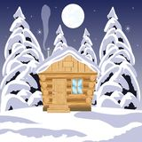House in wood Stock Photography