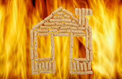 House of wood pellets Stock Photography