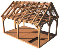 House wood structure Stock Image