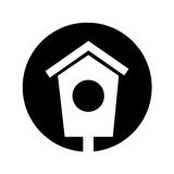 House wooden bird icon. Vector illustration design Royalty Free Stock Images