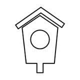 House wooden bird icon. Vector illustration design Stock Photo