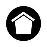 House wooden bird icon. Vector illustration design Stock Images