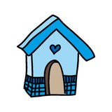 House wooden bird isolated icon Royalty Free Stock Images