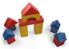 House of wooden blocks Stock Photography